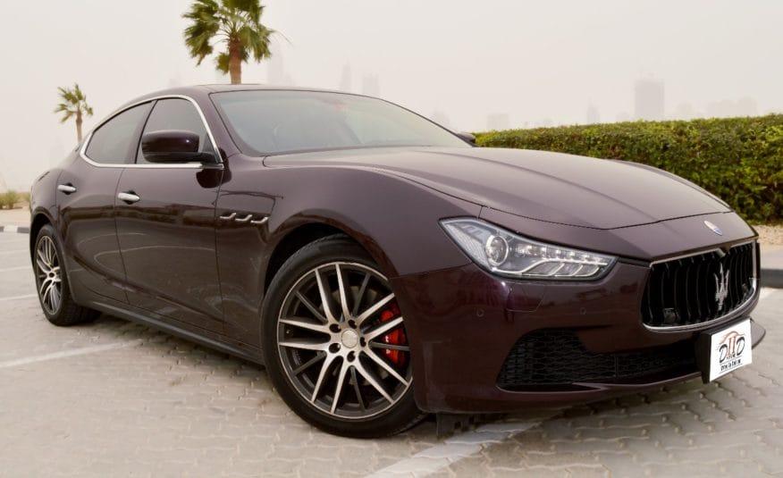 Maserati Ghibli S – AED 1,610/MONTH